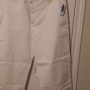 Old navy nwt cream pant size 12